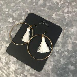J. Crew hoop tassel earrings